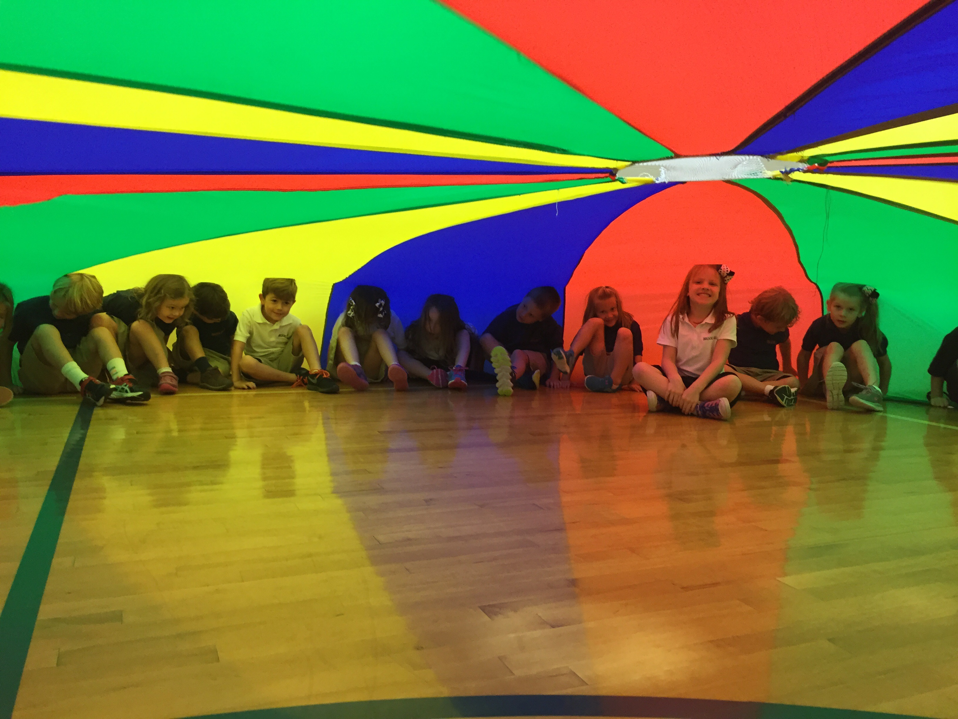 Parachute Day in our Lower School PE | Brook Hill School ...