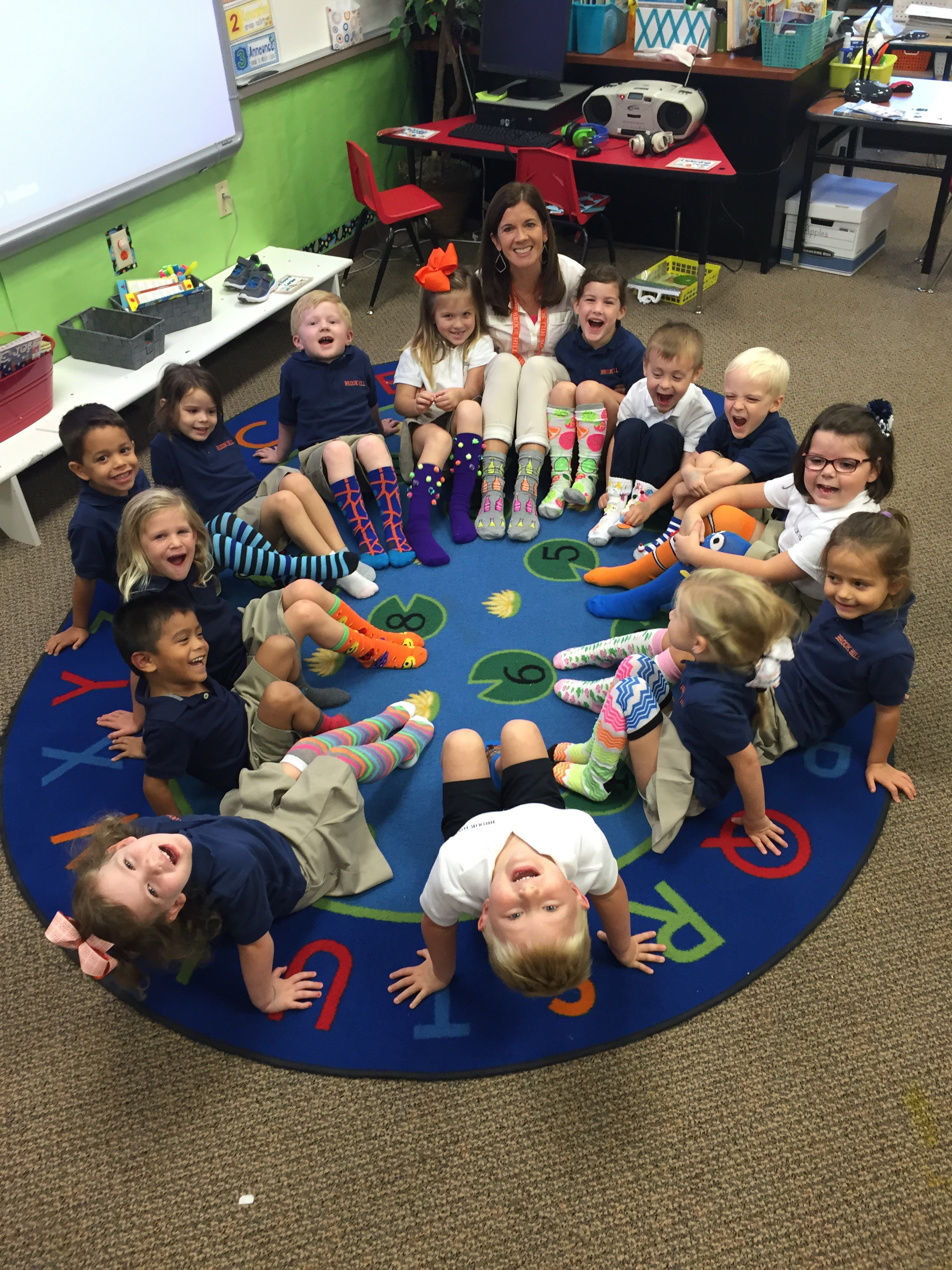 silly sock day in pre k brook hill school tyler tx. Black Bedroom Furniture Sets. Home Design Ideas