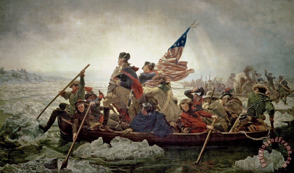 Famous Painting Of George Washington Crossing The Delaware