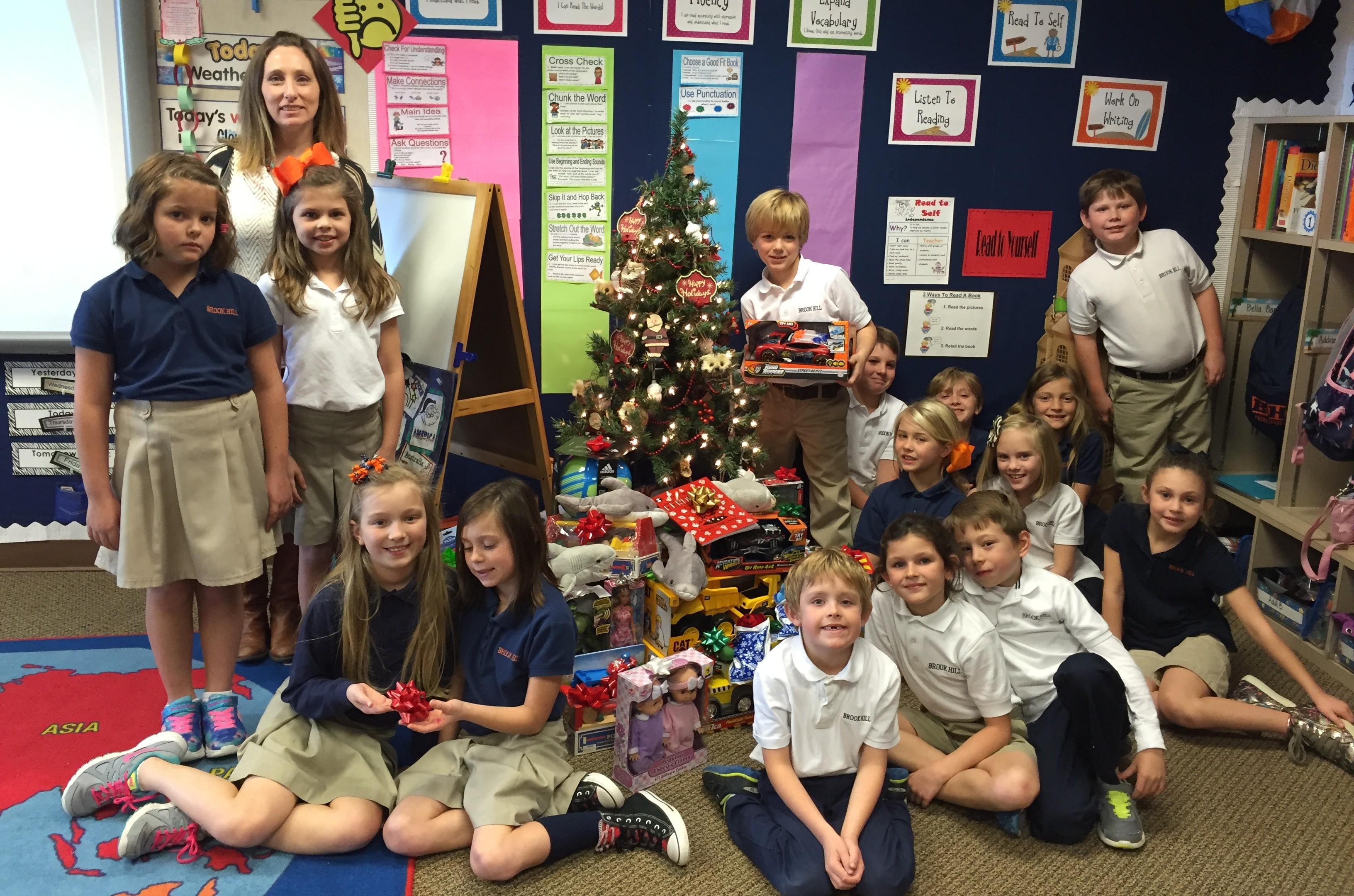 Second Grade Santas Brook Hill School Tyler Tx