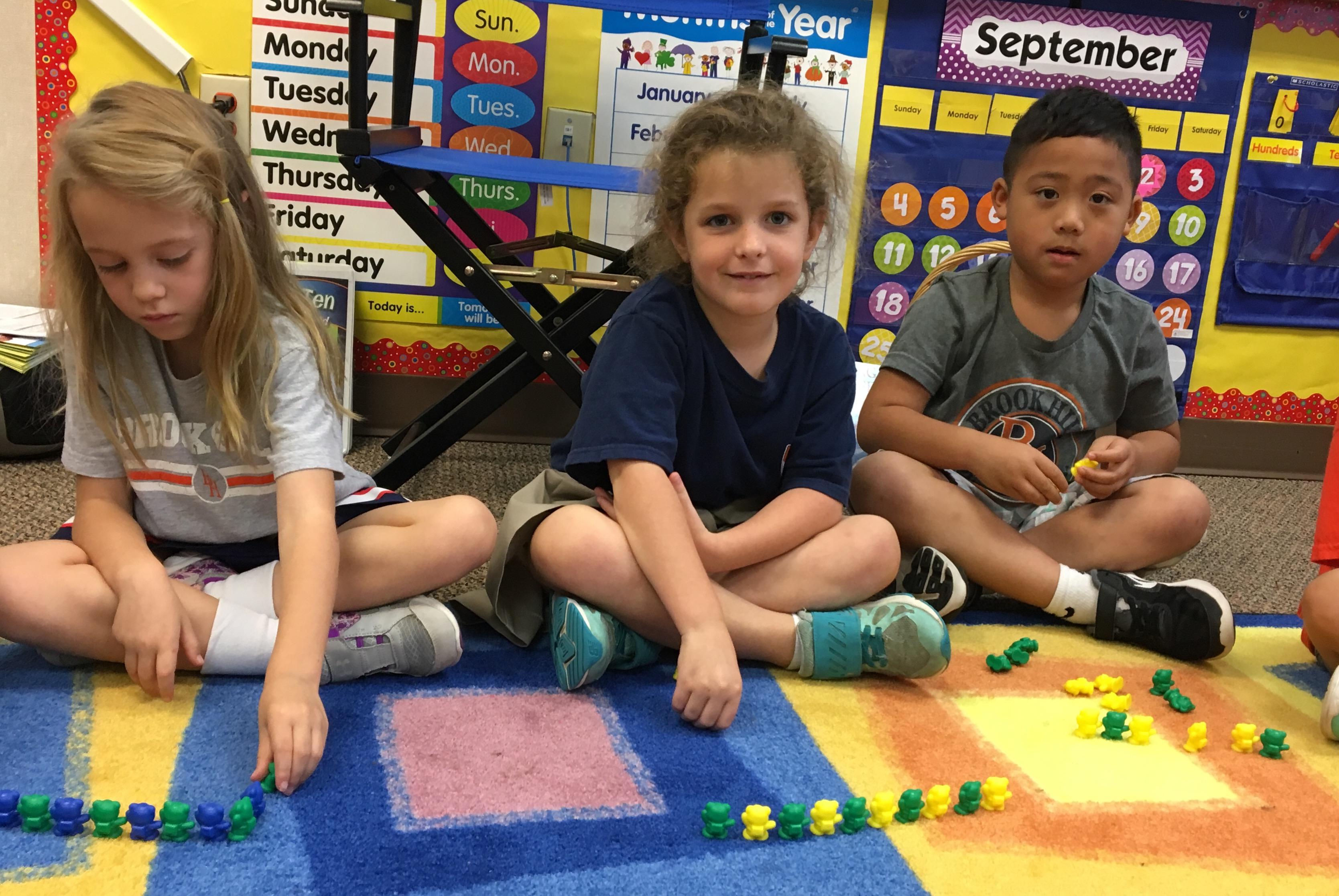 Learning Math In Kindergarten Brook Hill School Tyler Tx