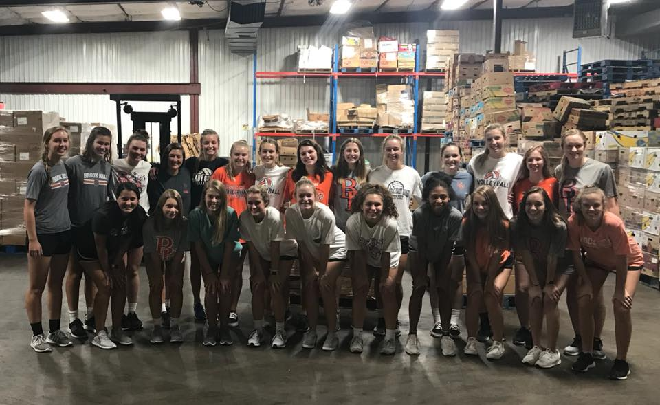 Volleyball Volunteers At The East Texas Food Bank Brook Hill