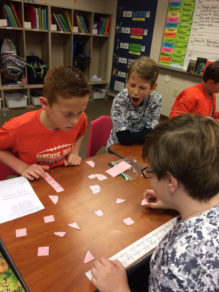 mrs  brown u2019s students complete a multiplication puzzle to